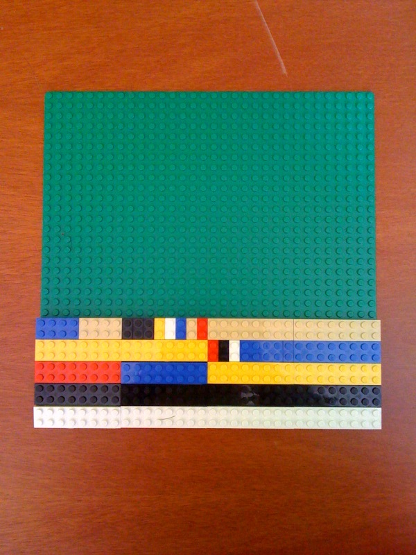 the IP header with Lego bricks